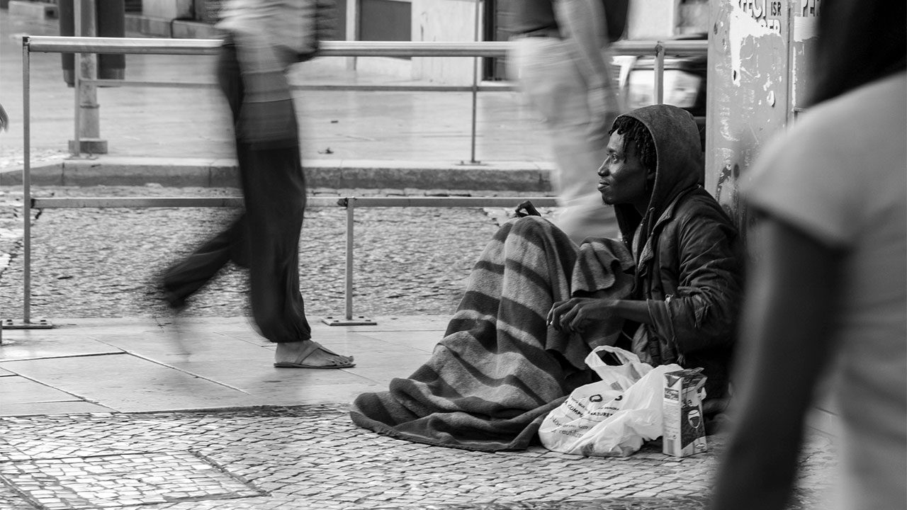Image result for a black homeless