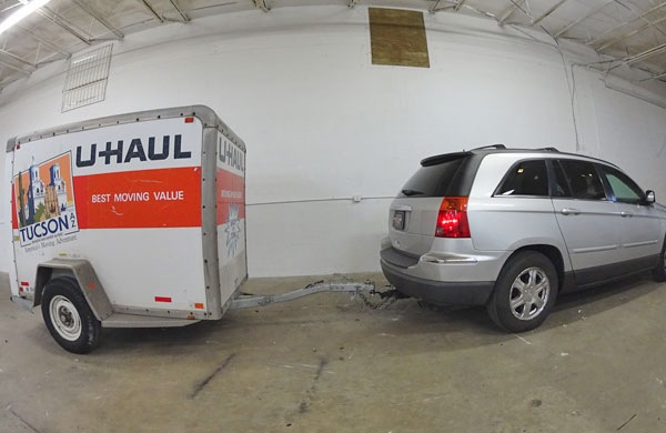 3 Men Run off with a couple's SUV and U-Haul, abandon it