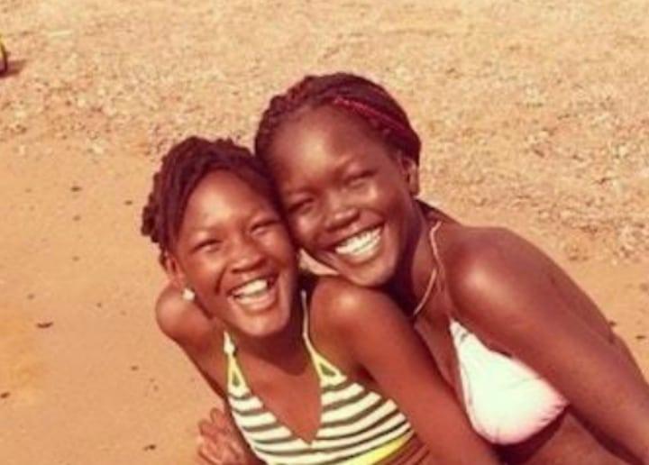 Nyakim Gatwech and Niece