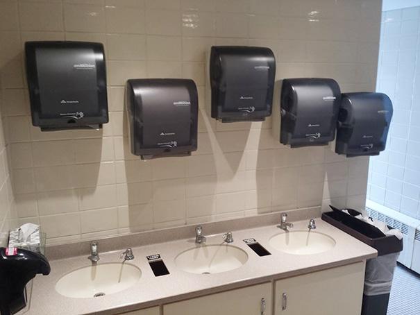 We Have 3 Sinks. We Need 5 Paper Towel Holders