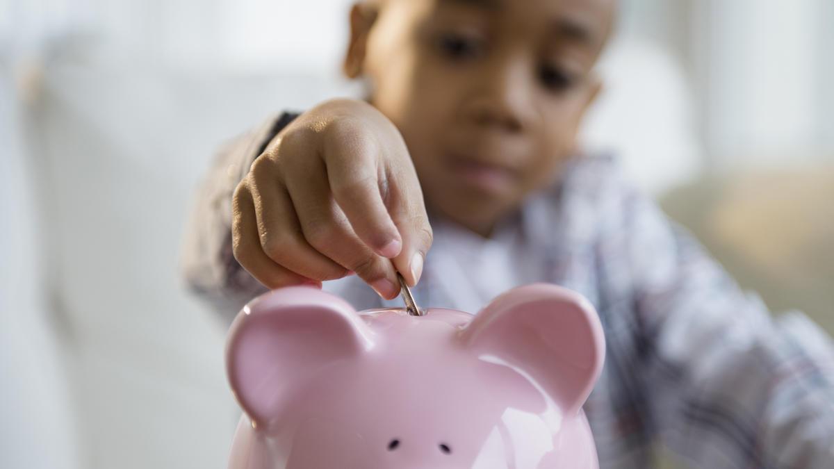 Image result for money piggy bank kid