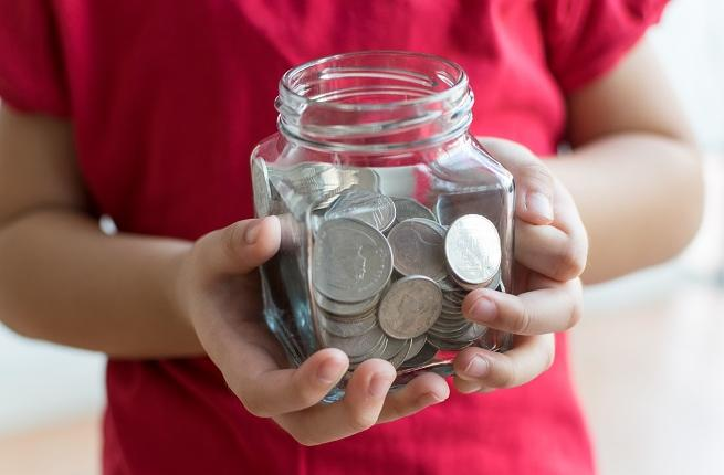 Image result for money jar kid