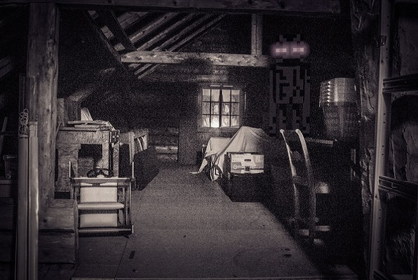 Image result for scary attic