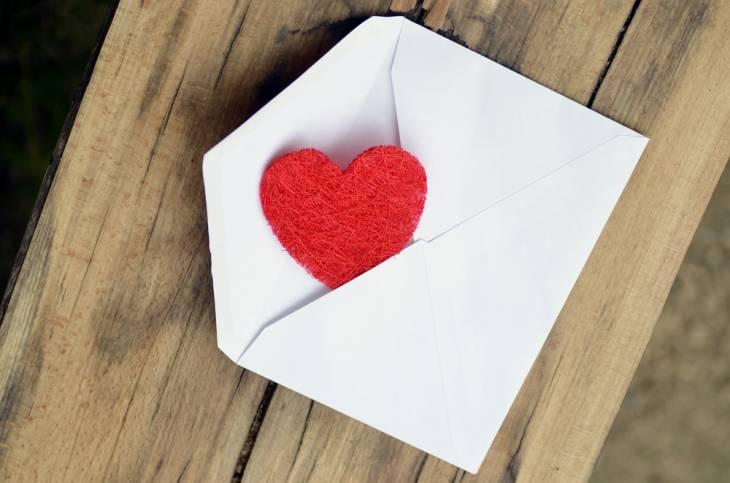 Image result for a love note envelope