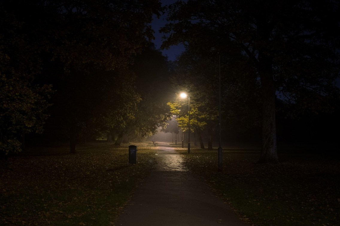 Image result for streetlight and darkness